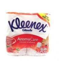Бумага туалетная Kleenex Cottonelle Сочная клубника 3 слоя, 4шт