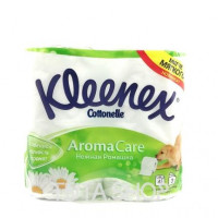 Бумага туалетная Kleenex Cottonelle Нежная ромашка 3 слоя, 4шт