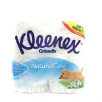 Туалетная бумага Kleenex Cottonelle Natural Care 3 слоя, 4шт