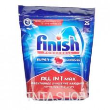 Средство чистящее для посудомоечных машин FINISH POWERBALL ALL IN 1 Max, 25шт.