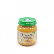 Пюре Gerber Овощи тушеные с телятиной 6+, 130г