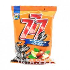 Семечки 777 подсолнечные жареные с арахисом, 77.7г