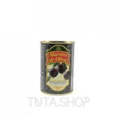Маслины Maestro de Oliva черные без косточки, 280мл