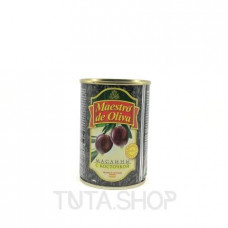Маслины Maestro de Oliva с косточкой черные, 280мл