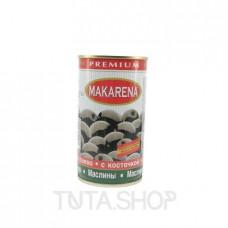 Маслины Makarena Premium черные с косточкой, 370мл