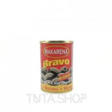 Маслины Makarena Bravo черные с косточкой, 300мл