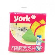 Салфетка York абразивная, 3шт.