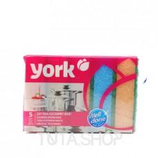 Губка кухонная York Maxi для посуды, 5шт.