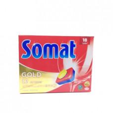 Таблетки для посудомоечной машины Somat Gold, 18шт.