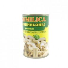 Консерва грибная Kormilica шампиньоны стерилизованные резаные, 400г