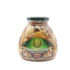 Консерва грибная Золотой Глобус ассорти из маринованных грибов, 530г