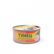 Консерва рыбная Белый кит тунец кусочки филе в масле, 140г