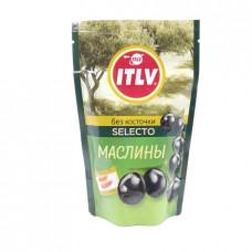 Маслины ITLV черные без косточек, 165г