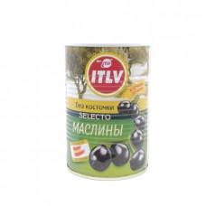 Маслины ITLV черные без косточек, 390г