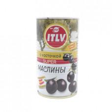 Маслины ITLV черные с косточкой Super, 350г