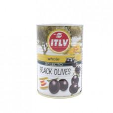 Маслины ITLV черные с косточкой, 390г