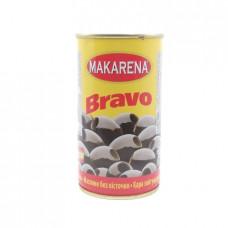 Маслины Makarena Bravo черные без косточек, 350г