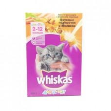 Корм для котят сухой Whiskas подушечки с молоком, 350г