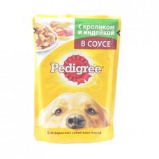 Корм для собак желе Pedigree Кролик/индейка в соусе, 100гр