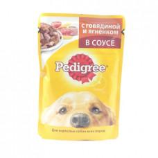 Корм для собак желе Pedigree Говядина/ягненок в соусе, 100гр