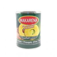 Ананасы Makarena кольца в легком сиропе, 580мл