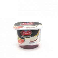 Десерт творожный Дольче воздушный клубника 2.8%, 100г