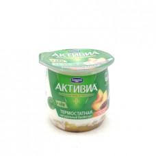 Биойогурт Активиа термостатный с персиком и льном 3%, 170г