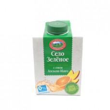 Напиток Село Зеленое сывороточный с соком апельсина и манго, 0.5л