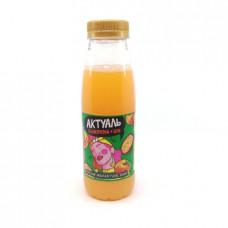 Напиток Актуаль Danone сывороточный с соком персик и маракуйя, 310г