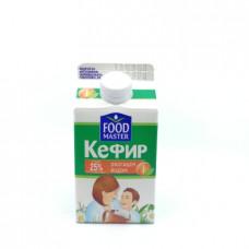 Кефир Food Master Обогащенный йодом, 2.5%, 450 мл т/у