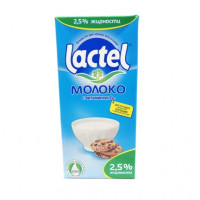 Молоко Laktel домашнее, 2.5% 1 л т/п