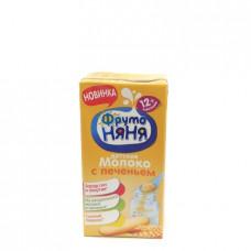 Коктейль молочный Фруто Няня для детей с печеньем, 2.4% 0.2л