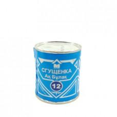 Молоко сгущенное Ак Булак Маслодел 12%, 360 гр ж/б