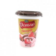 Десерт творожный Food Master Дольче 4% Клубника шоколад, 400 гр