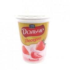 Десерт творожный Food Master Дольче Клубника 4%, 400 гр
