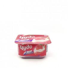 Десерт творожный двуслойный Чудо Клубника 4.2%, 100 гр