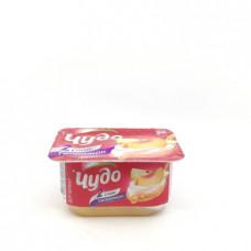 Десерт творожный двуслойный Чудо Персик-Груша 4.2%, 100 гр