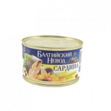 Консерва рыбная Балтийский невод сардина натуральная с добавлением масла, 240г