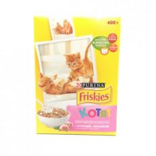 Корм для котят сухой Friskies с курицей/молоком, 400г
