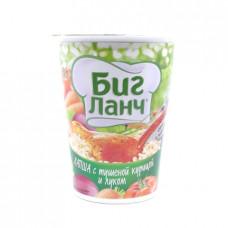 Лапша Биг Ланч с тушеной курицей, луком и соусом, 65 гр стакан