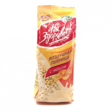 Сухой завтрак На Здоровье! пшеница воздушная с мёдом, 175г