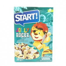 Сухой завтрак Start Jolly Rodger фигурки белые и шоколадные, 300г