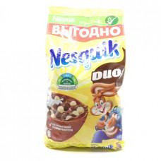 Сухой завтрак Nesquik Duo шарики воздушные шоколадные, 500г