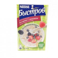 Каша овсяная Быстров ассорти клубника-малина-лесные ягоды с молоком 240 гр ( 40гр*6шт)