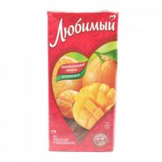 Напиток Любимый сокосодержащий апельсиновое манго, 1.93л
