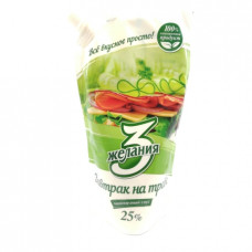 Майонез 3 Желания Завтрак на траве, 25% 380 гр