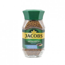 Кофе без кофеина растворимый Jacobs Monarch Decaff, 95 гр ст/б