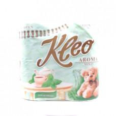 Бумага туалетная Kleo Aroma Мята, 3-х сл, 4 шт