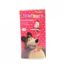 Платочки бумажные Premial Маша и Медведь, 3-х сл. 10шт