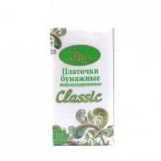 Платочки бумажные Amra Classic, 2-х сл. 10шт